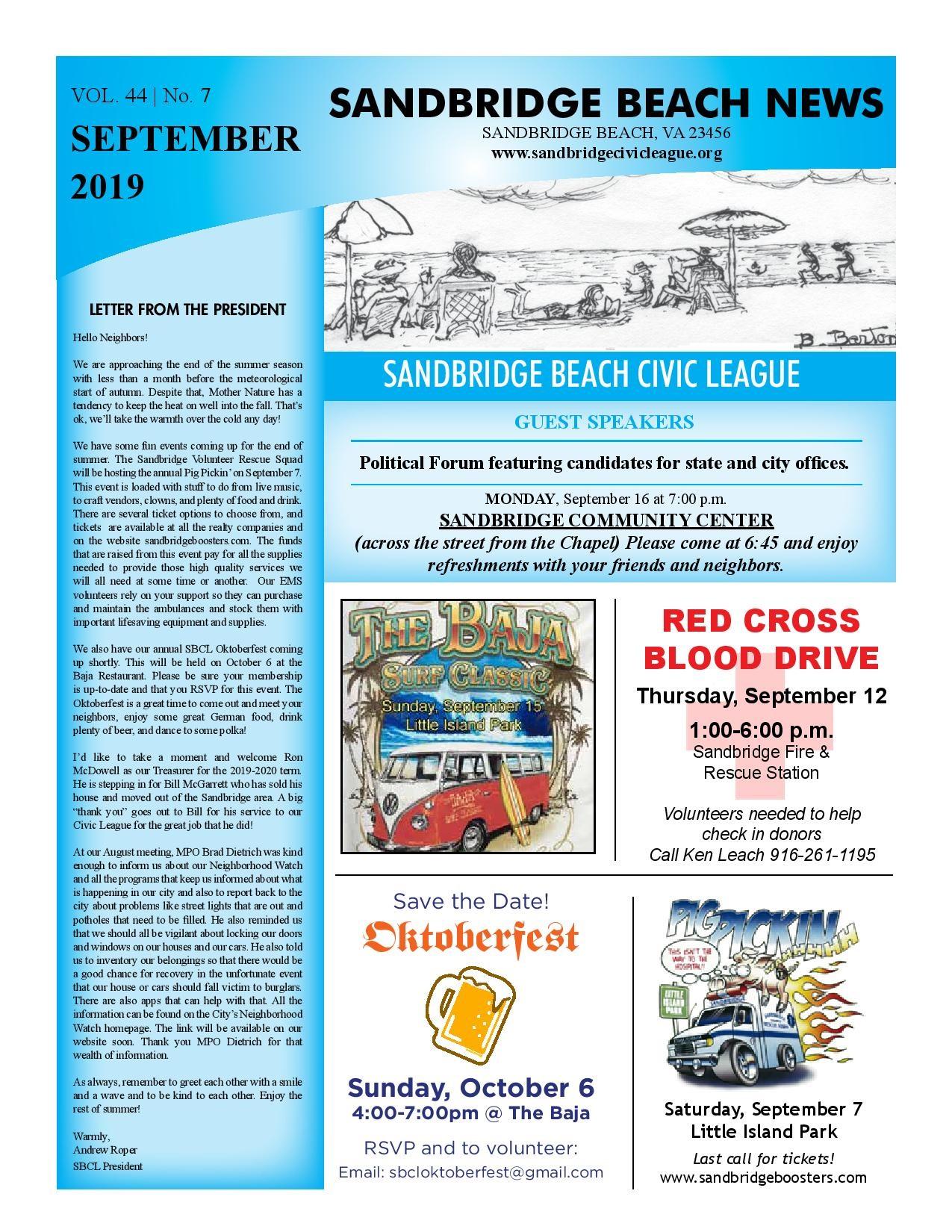 SBCL Newsletter September 2019