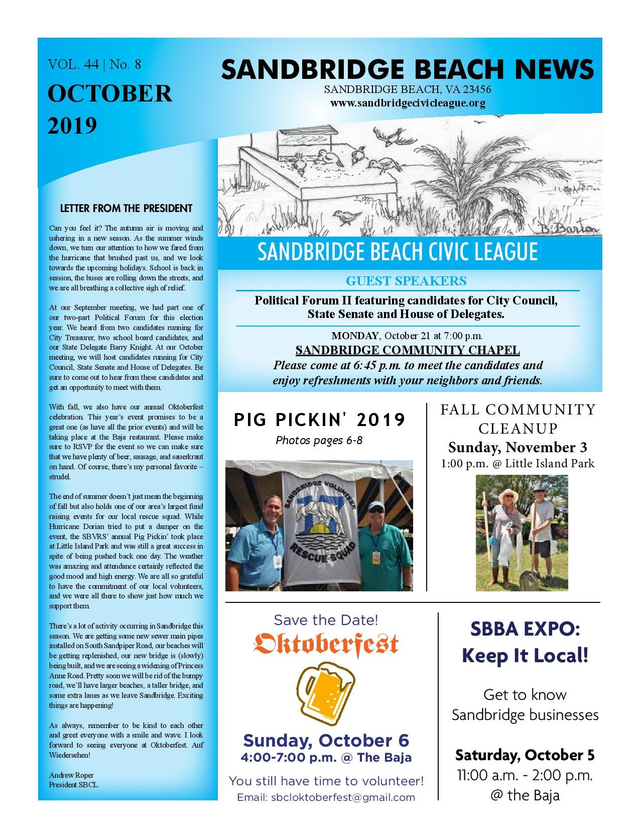 SBCL Newsletter Oct 2019