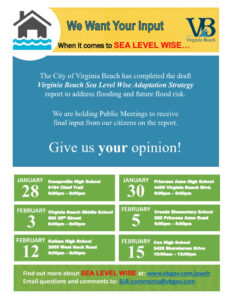Sea Level Rise Meetings