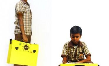 YELO - A Revolutionary Solar School Bag Transforms Into a Writing Desk