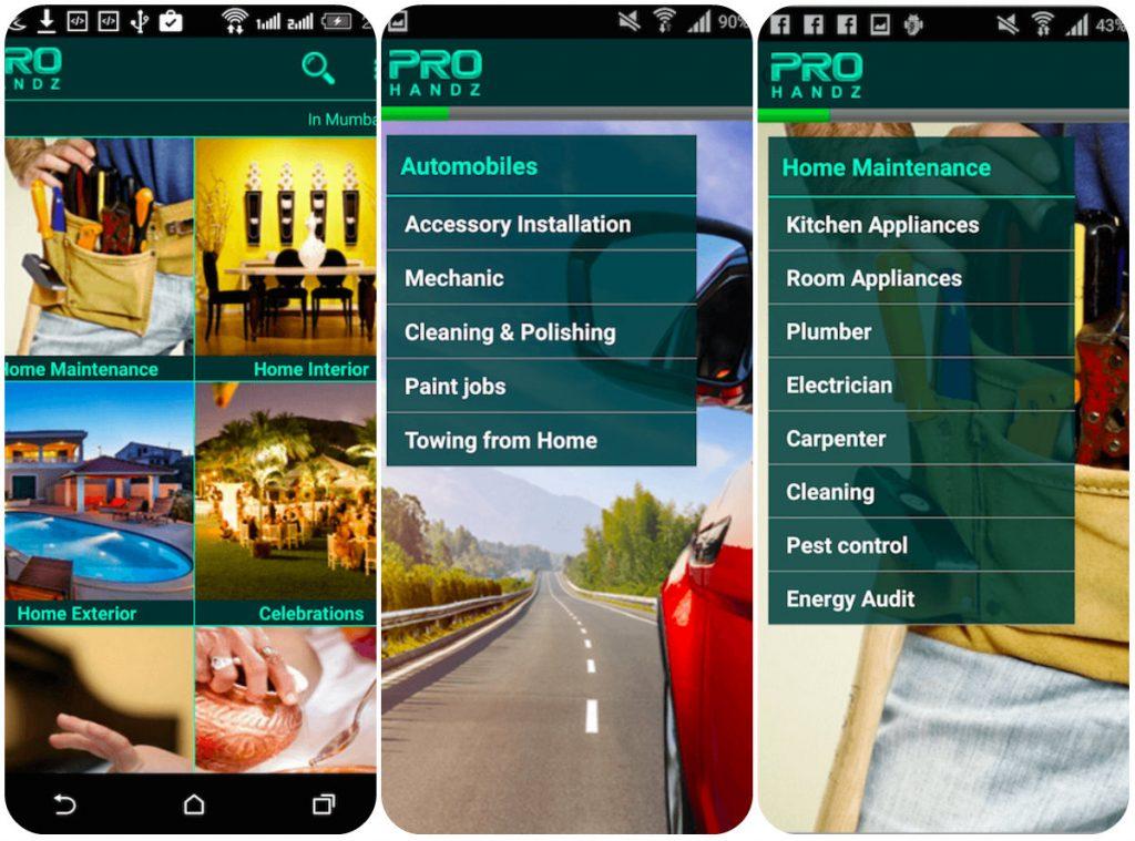 ProHandz app