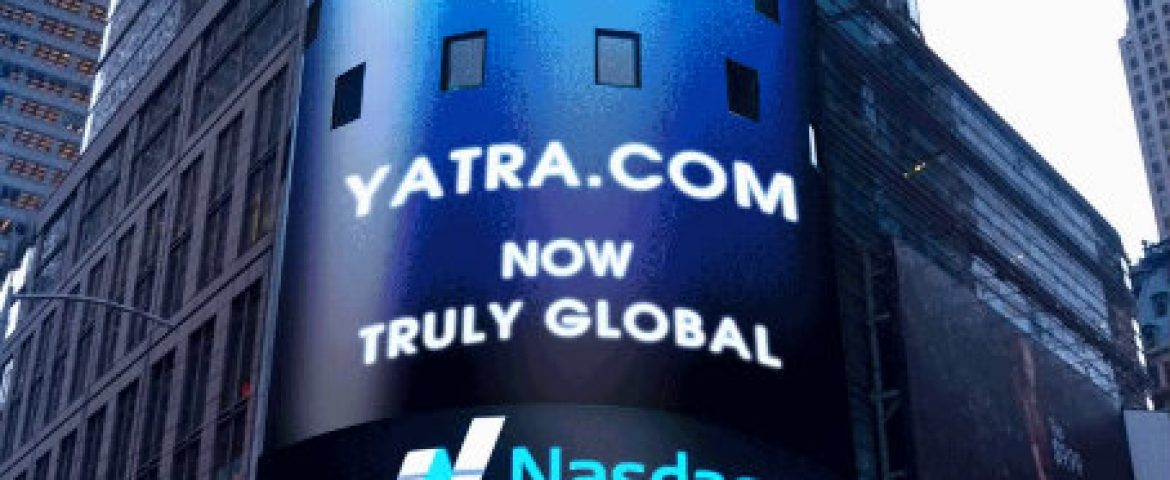 Indian Online Travel Portal Yatra.com Listed on Nasdaq Today