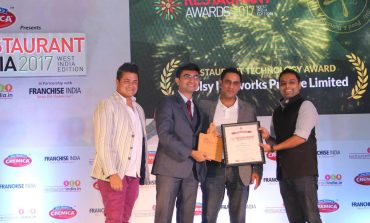 Voolsy Wins the 'Restaurant Technology Award - 2017' by Restaurant India