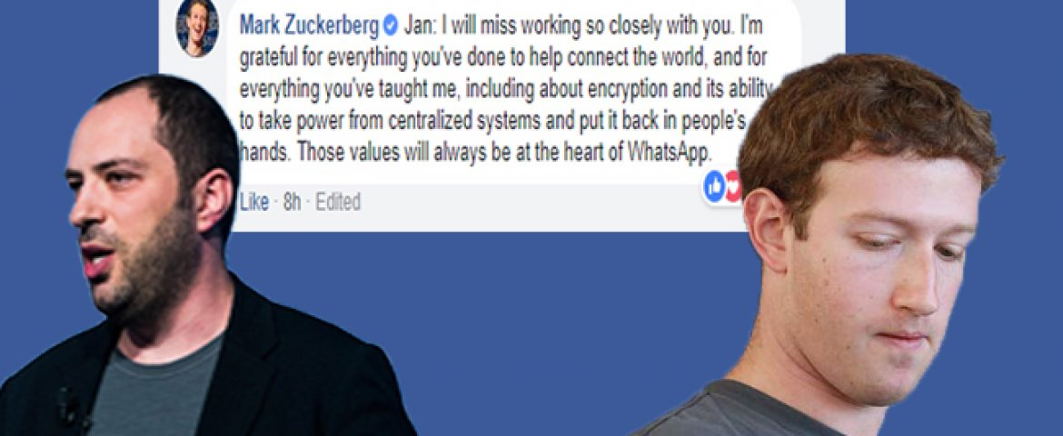 Whatsapp's Last Remaining Co-Founder Exits Facebook