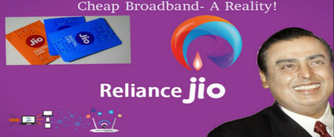 Jio To Offer Cheap Broadband, Calls, Videos under Rs. 1,000/month