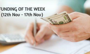 Top Five Funding of the Week (12th Nov - 17th Nov)