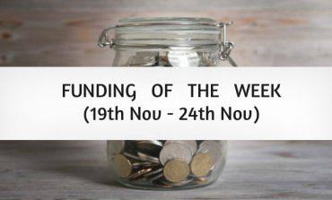 Top Five Funding of the Week (19th Nov - 24th Nov)