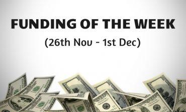 Top Five Funding of the Week (26th Nov - 1st Dec)