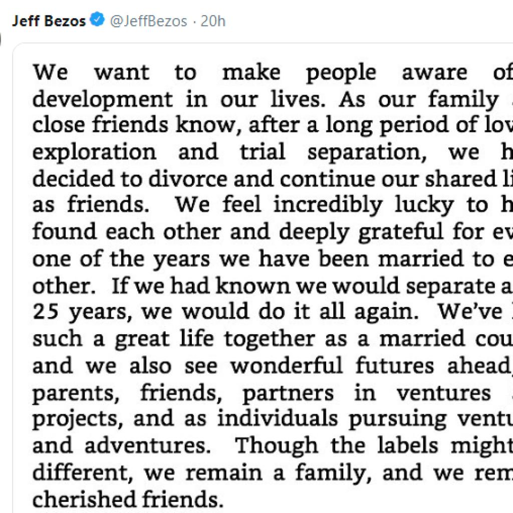 Jeff Bezos Divorce