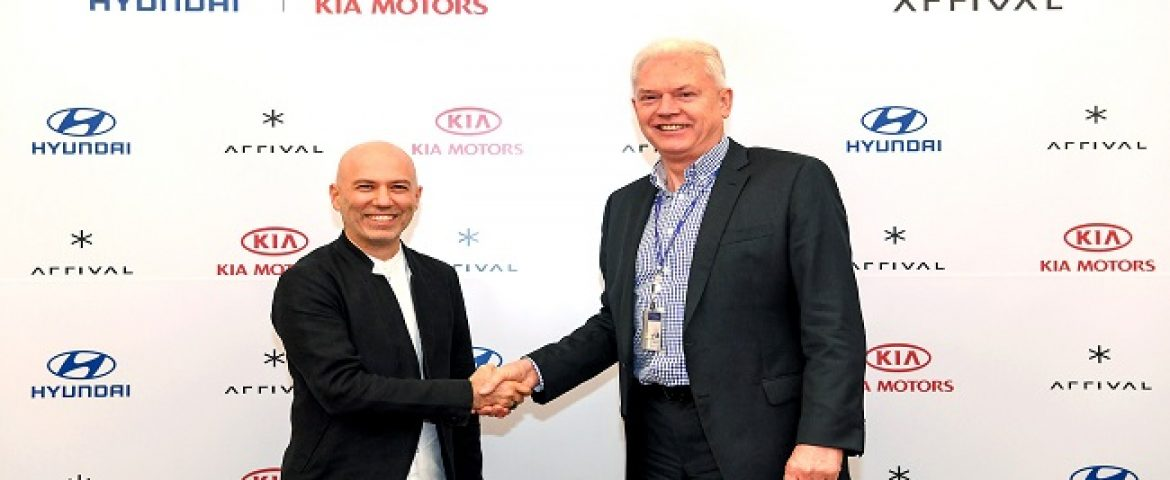 Hyundai and Kia Invest $110 Million in Electric Vehicle Startup