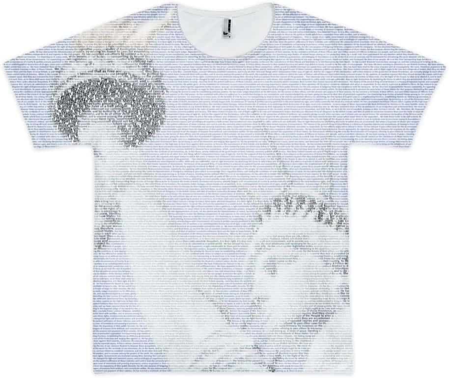 picture relating to Printable Declaration of Independence Text titled All-More than-Print \u201cDeclaration of Flexibility\u201d Fusion T-Blouse