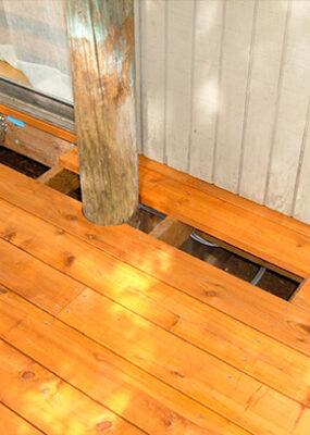 Cedar Deck Cut Around a Tree
