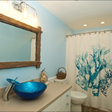 Finished New Bathroom Remodel by Eugene Contractor