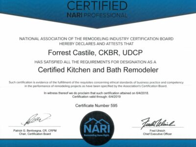 Forrest Castile CKBR Certificate