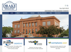 Drake Public Library website