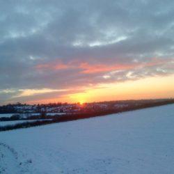 Winter sunset in Scraptoft
