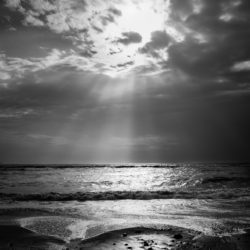 Stormy skies and calm seas