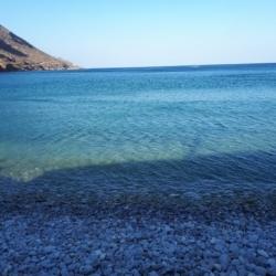 Blue water, blue stones