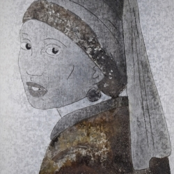 Girl with Metalling Earring