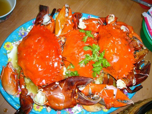Steamed crabs, Singapore
