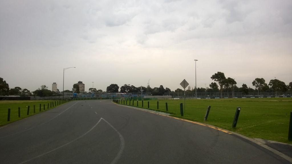 Albert Park pit entry