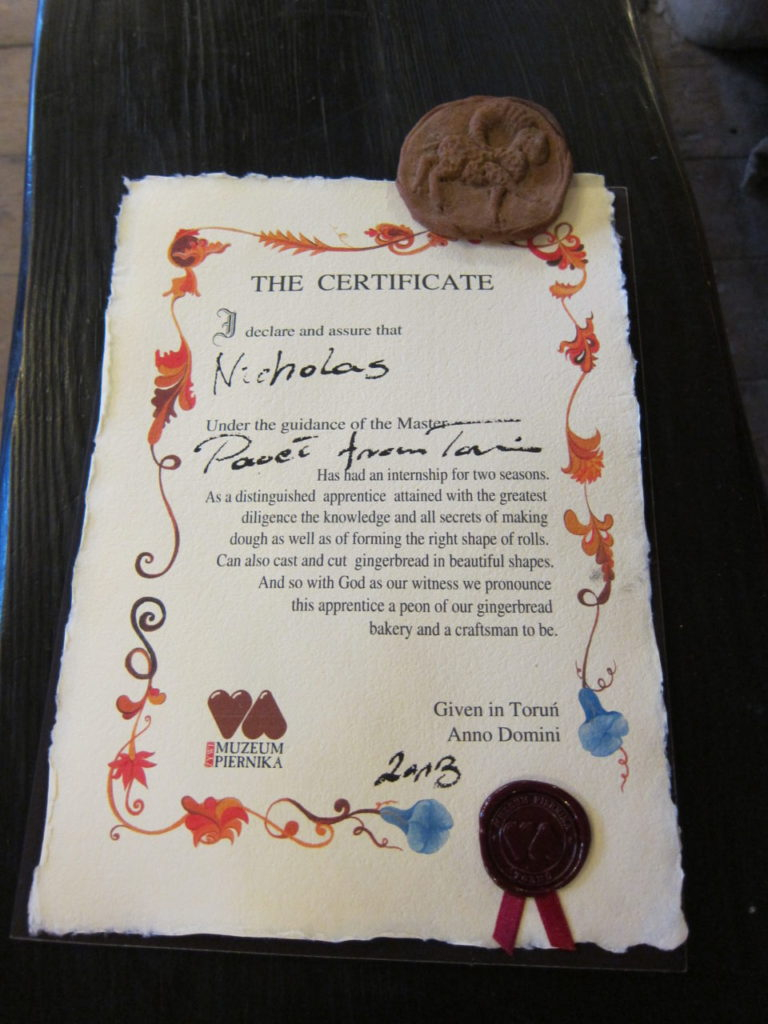 My certificate and my paperweight