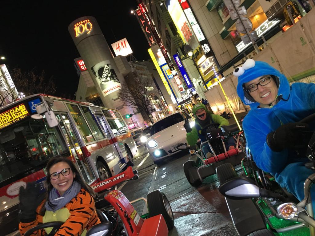 MariCar in Shibuya crossing