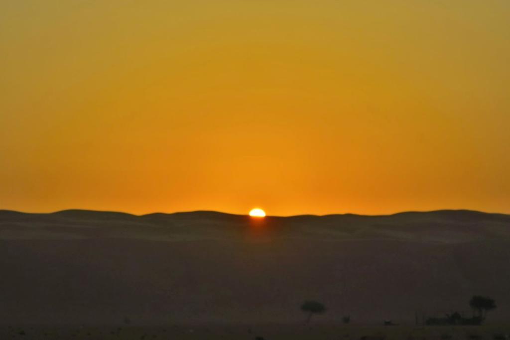 Dunes sunrise in Oman