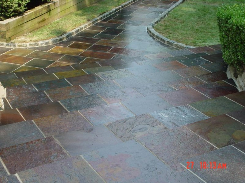 Slate Walkway with Steps