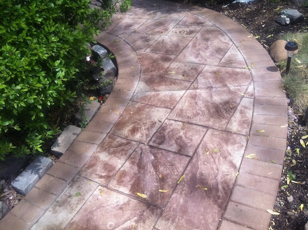 walkway stamped concrete nj