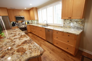 maple shaker custom cabinets