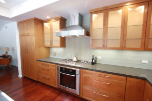 custom alder cabinets