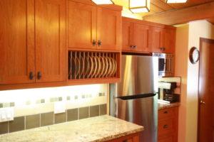 Beautiful cherry custom shaker cabinets