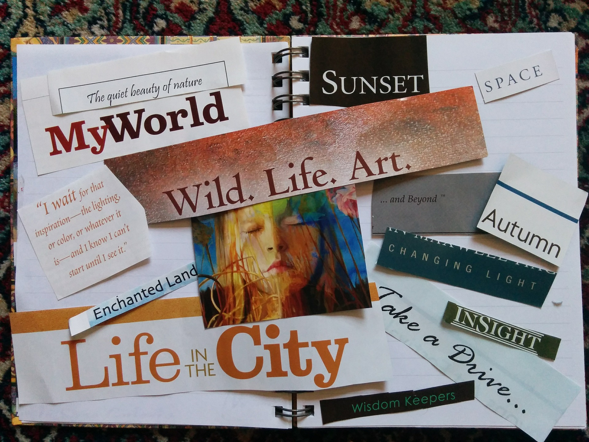 Vision board helps with planning