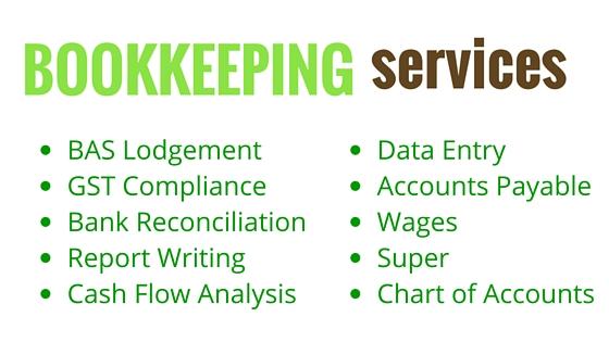 Acorn Bookkeeping list of services Rockingham
