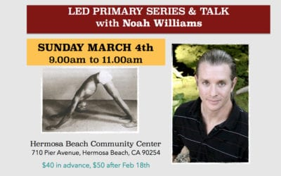 LED PRIMARY SERIES & TALK with Noah Williams