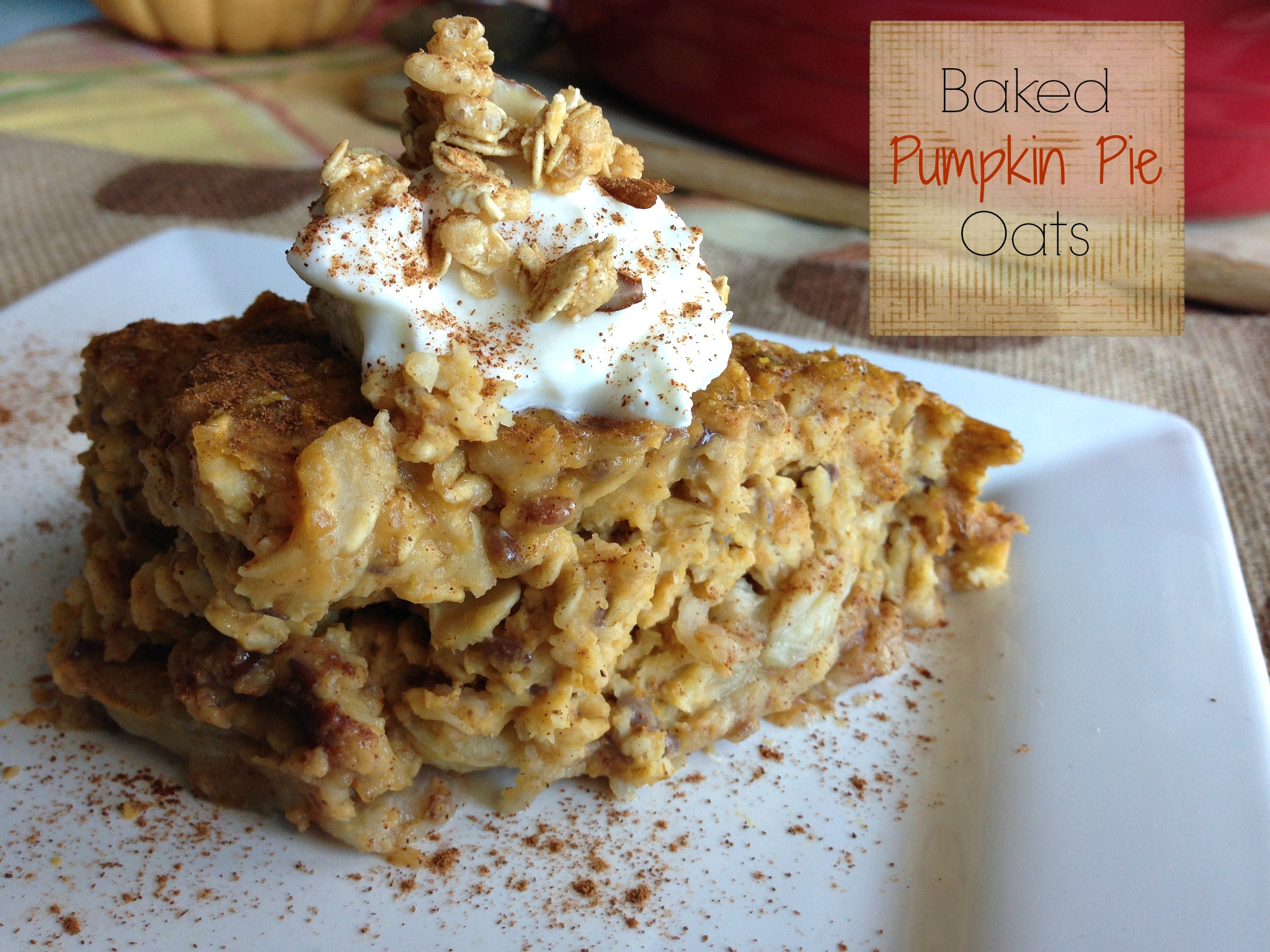 Baked Pumpkin Pie Oats