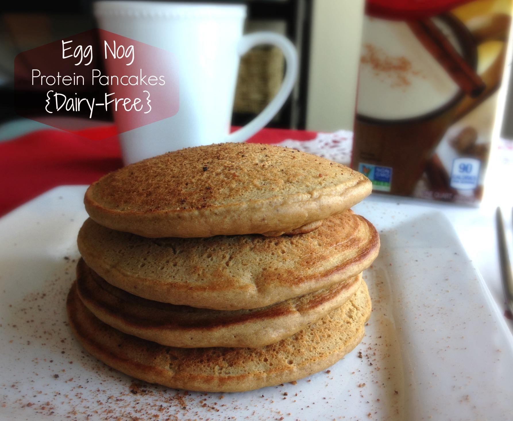 Eggnog Protein Pancakes {Dairy-Free}