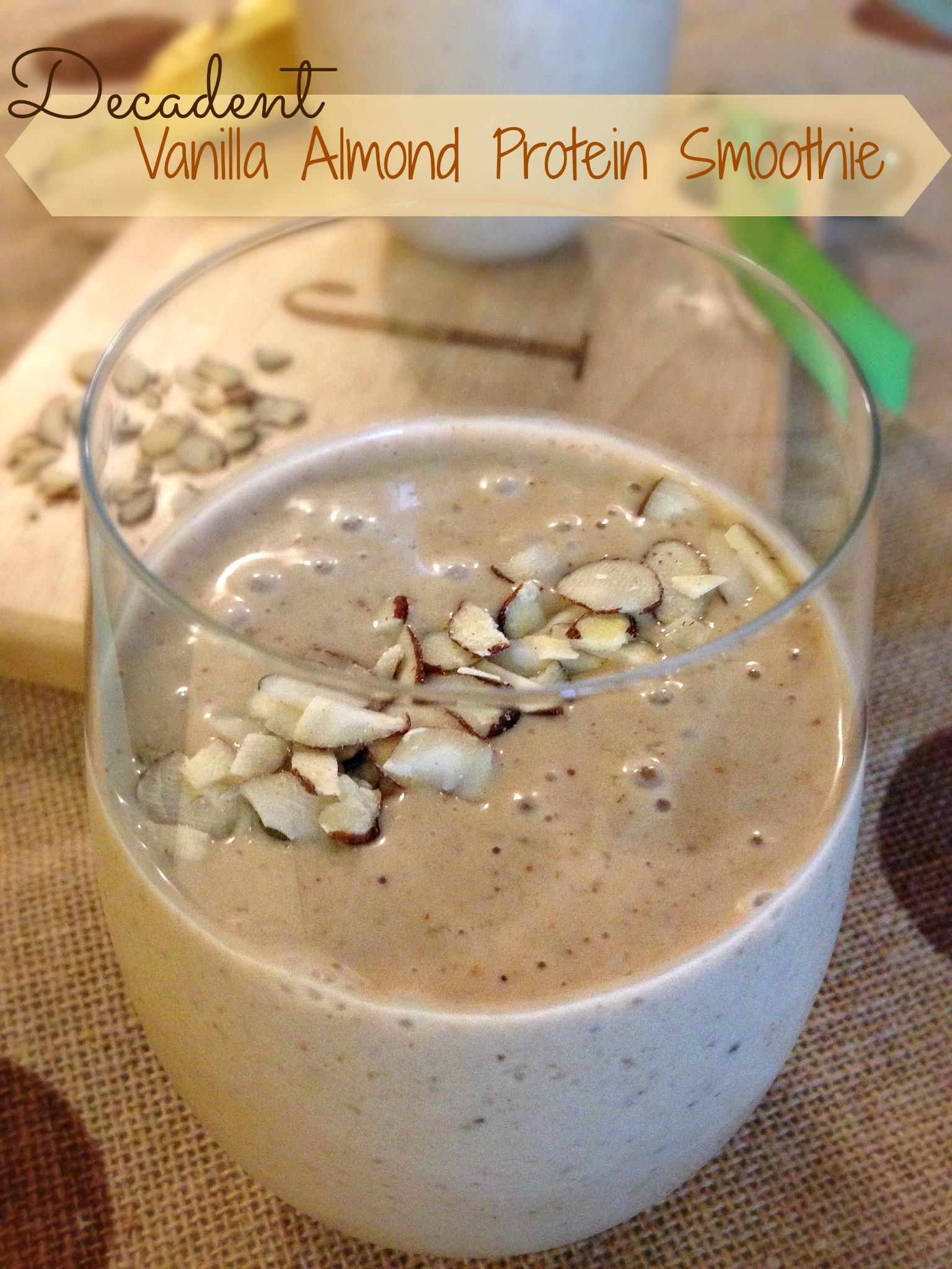 Decadent Vanilla Almond Protein Smoothie