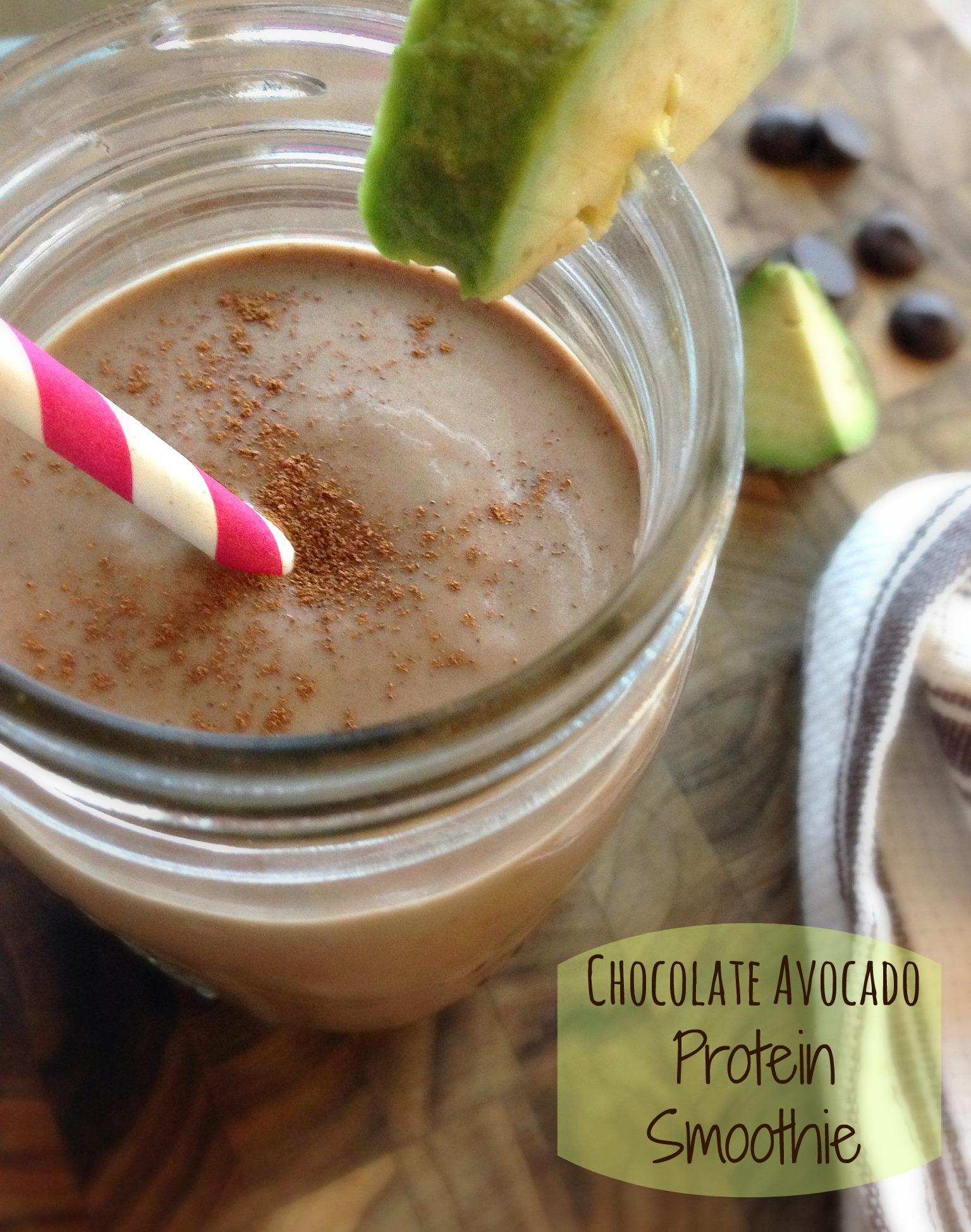 Chocolate Avocado Protein Smoothie