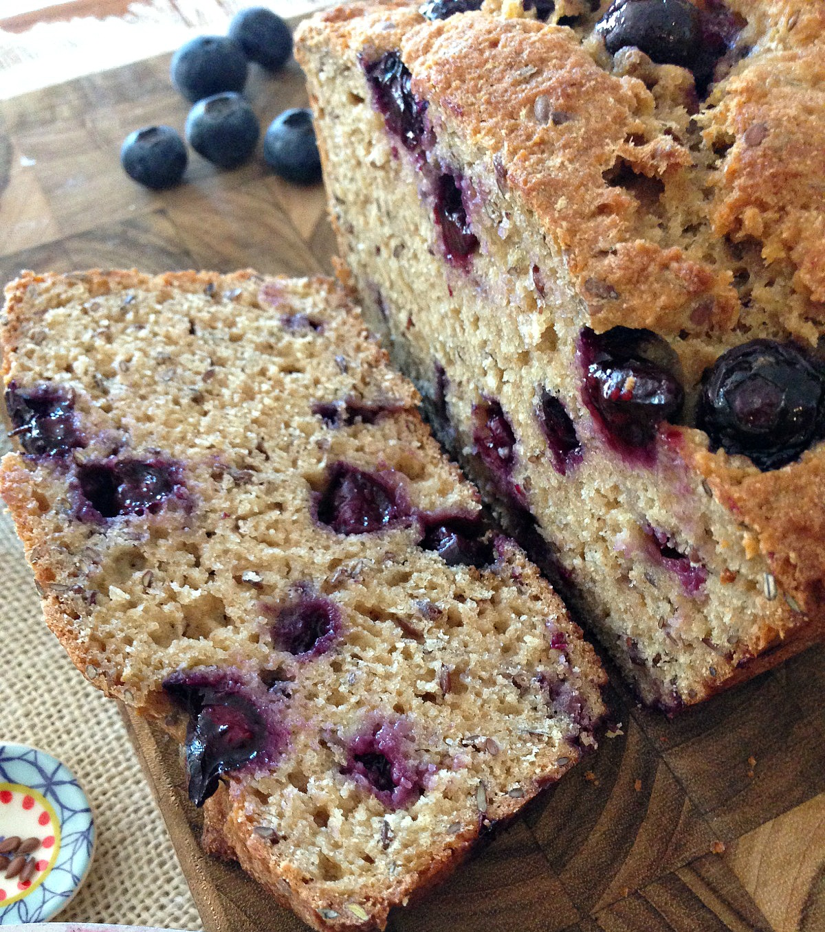 Whole Wheat Blueberry Flax Bread