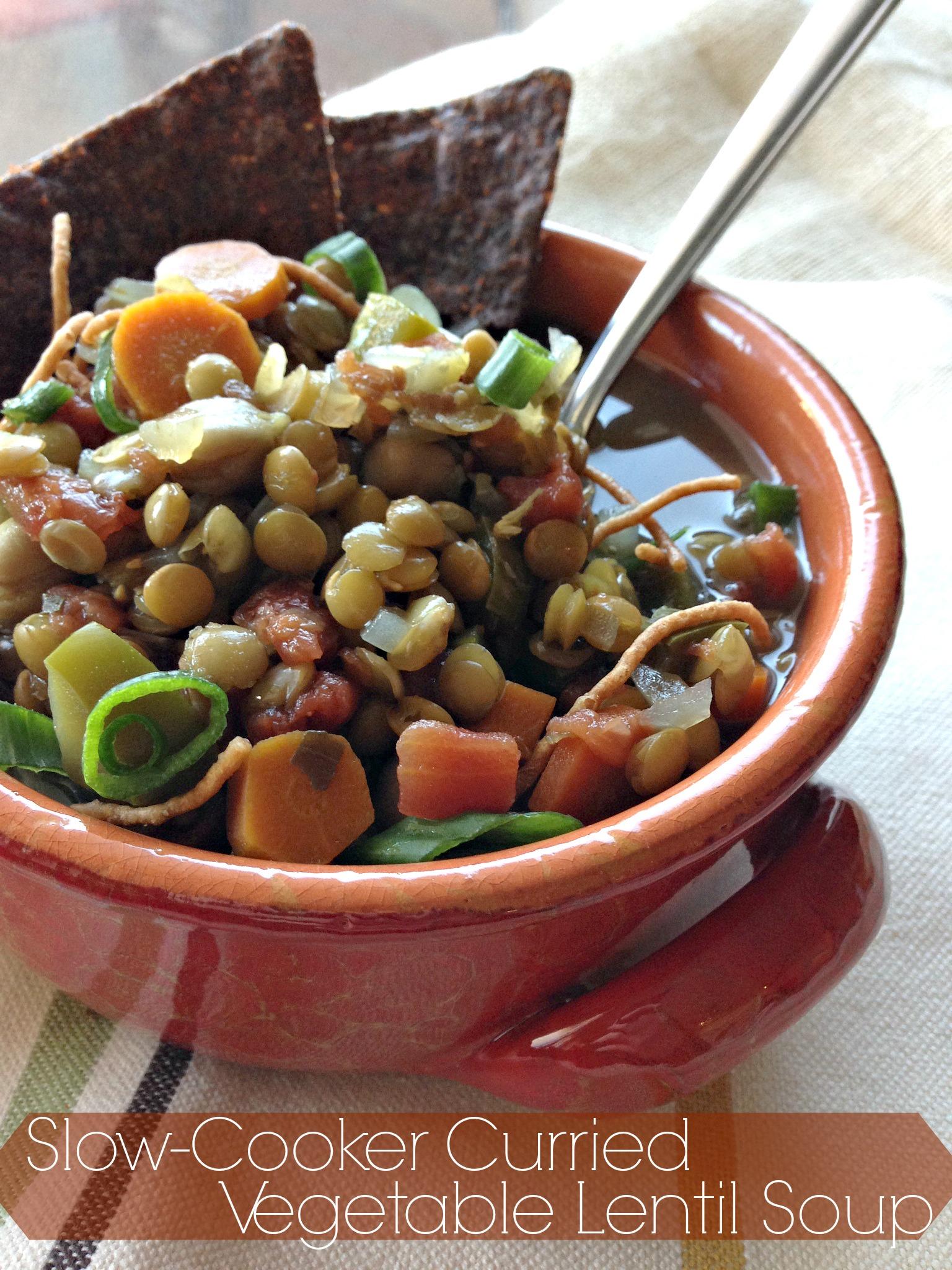 Slow-Cooker Curried Vegetable Lentil Soup