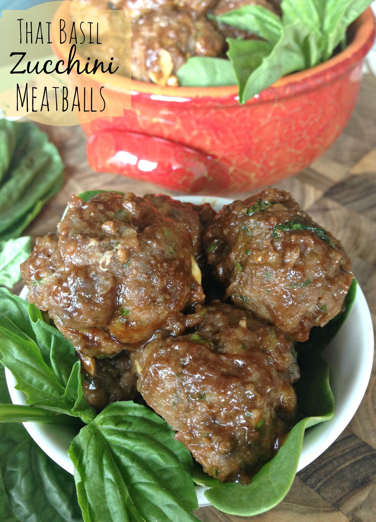 Thai Basil Zucchini Meatballs
