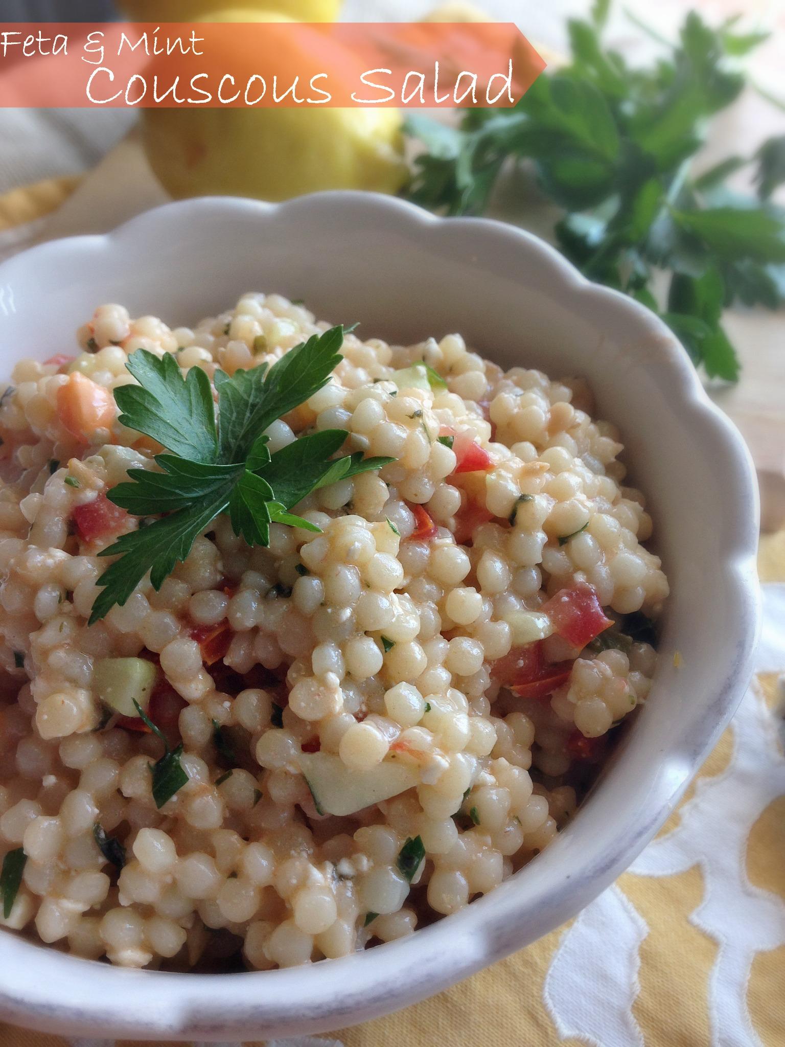 Feta & Mint Couscous Salad