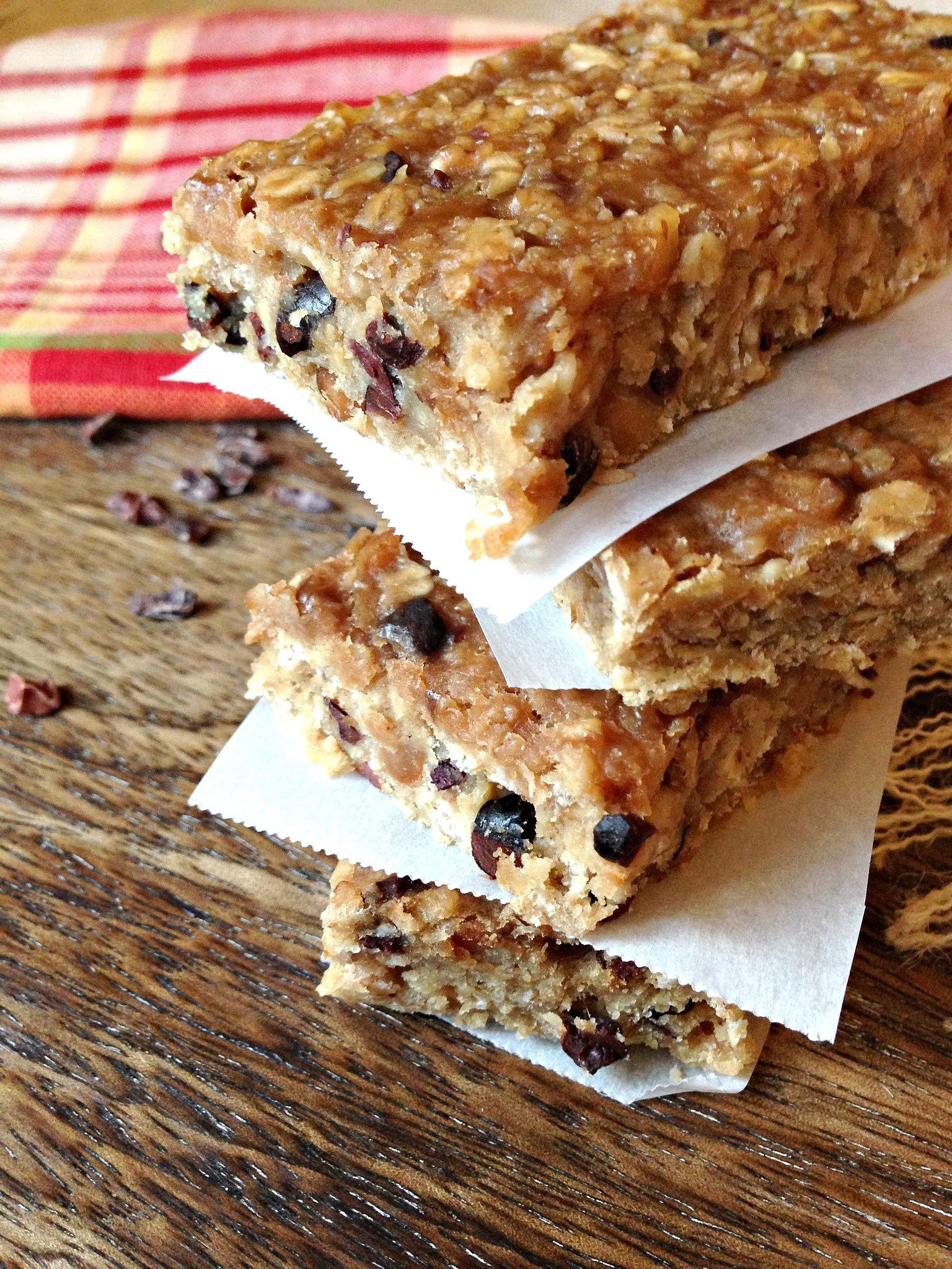 Banana, Peanut Butter & Oat Protein Bars