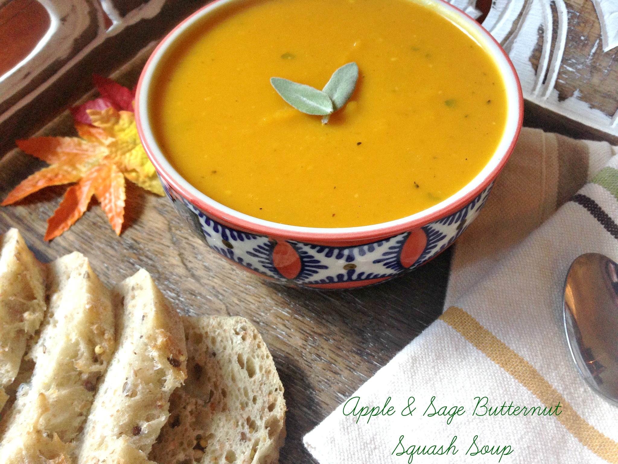 Apple and Sage Butternut Squash Soup