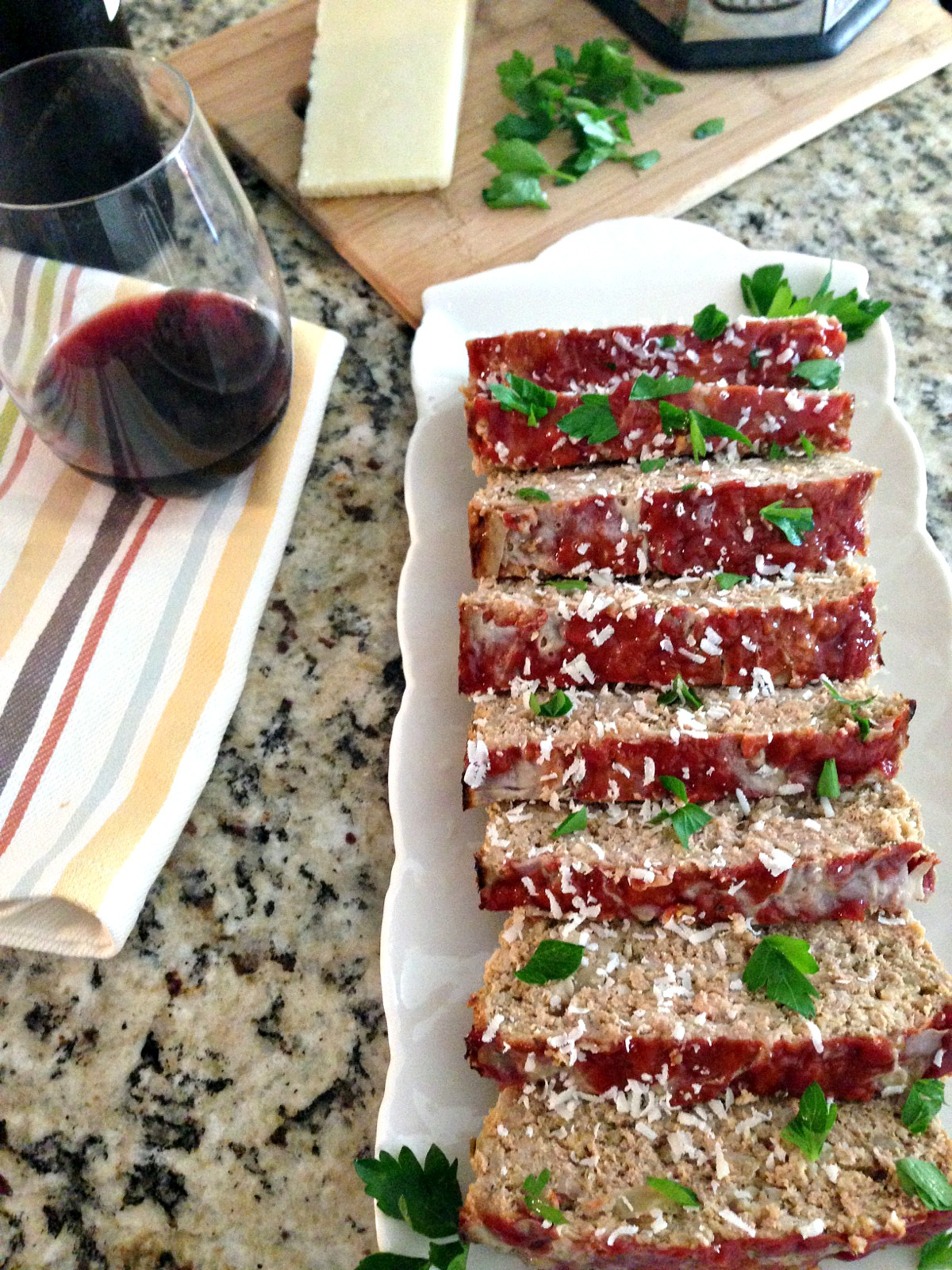 Turkey Meatloaf with Red Wine Ketchup