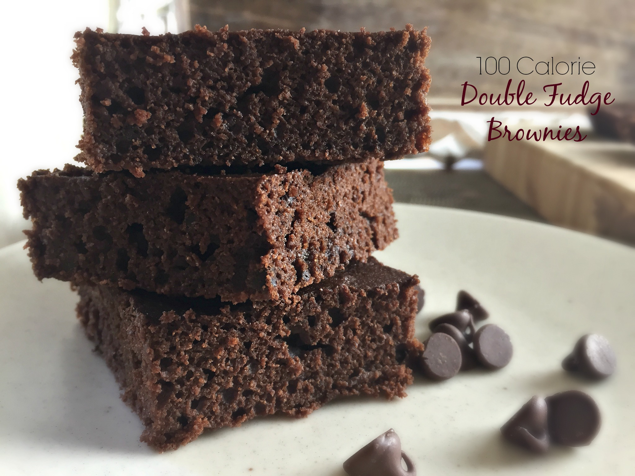 100 Calorie Double Fudge Brownies