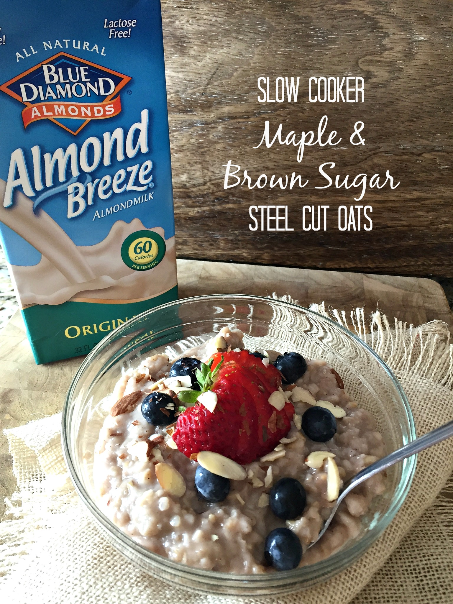 Slow Cooker Maple and Brown Sugar Steel Cut Oats