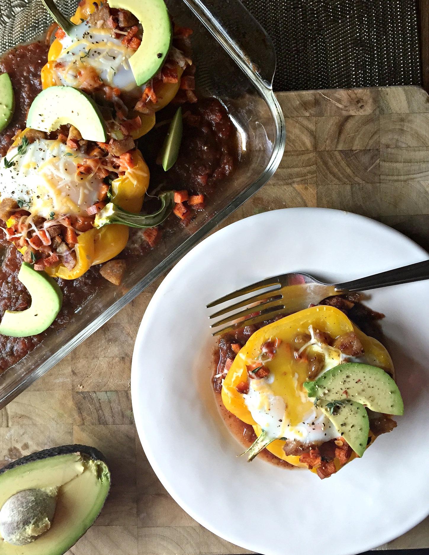 Tex-Mex Breakfast Stuffed Peppers